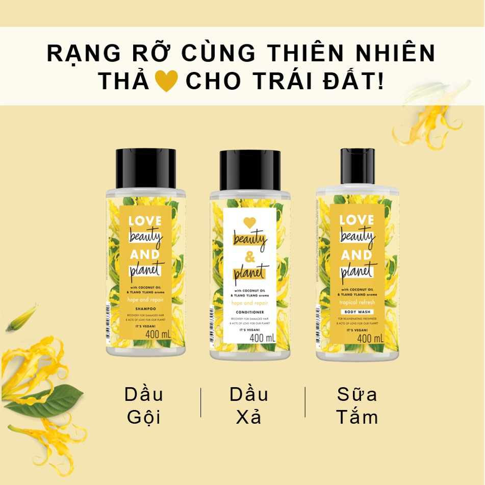 Dầu Gội Love Beauty And Planet With Coconut Oil & Ylang Ylang (400ml) giá  tốt